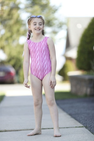 Pink Knit Leotard
