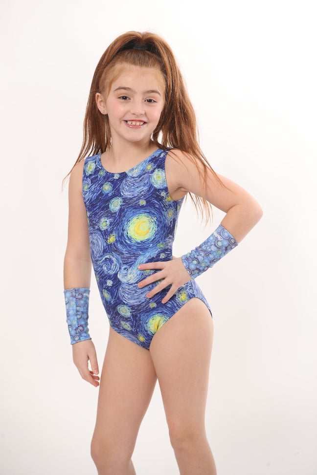 ULTRA SOFT Gogh For the Gold Leotard - CLOSED BACK
