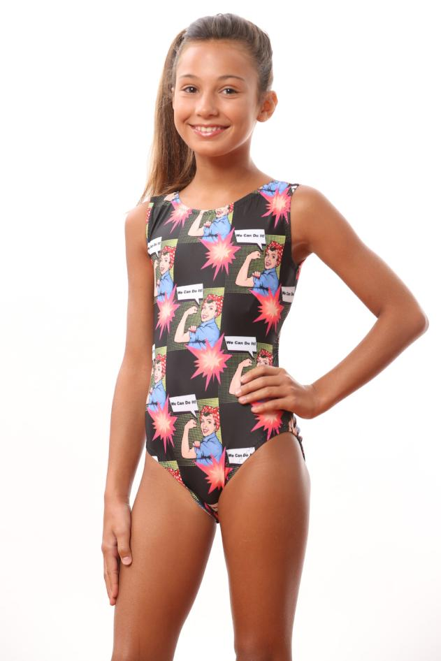 Foxy's Leotards for girls rosie the riveter
