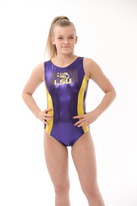 LSU College Gymnastics Leotard by Foxy's Leotards
