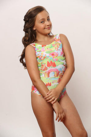 Will Flip for Candy Gymnastics Leotard - CLOSED BACK