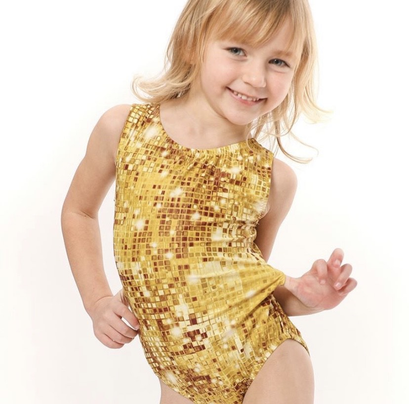 Gold leotard collection by Foxy's Leotards to feel like a perfect ten