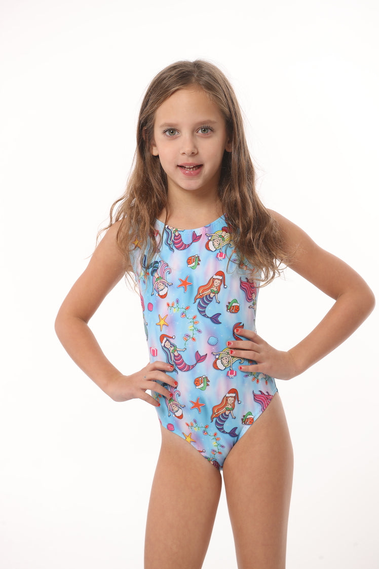 gymnastics leotard with mermaid print