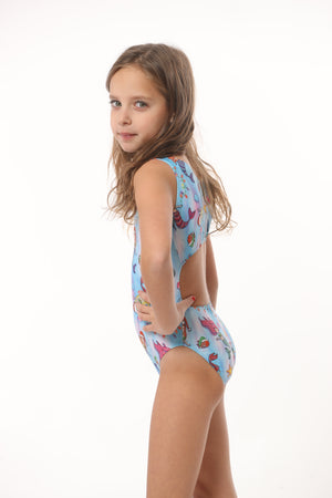 gymnastics leotards with Christmas print