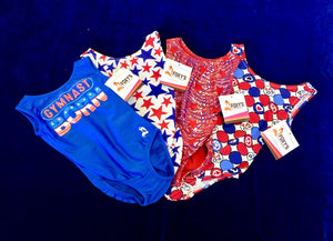 patriotic red white and blue leotards