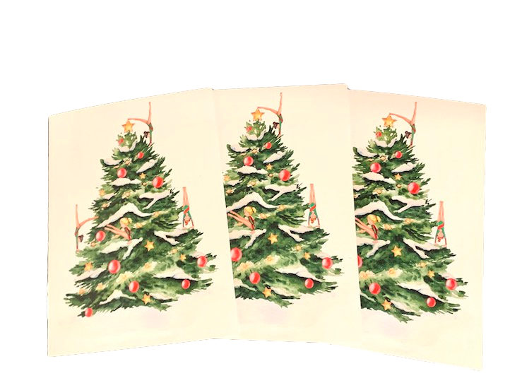 Set of 3 Holiday Cards for Gymnasts