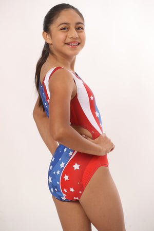 2020 red white and blue leotards