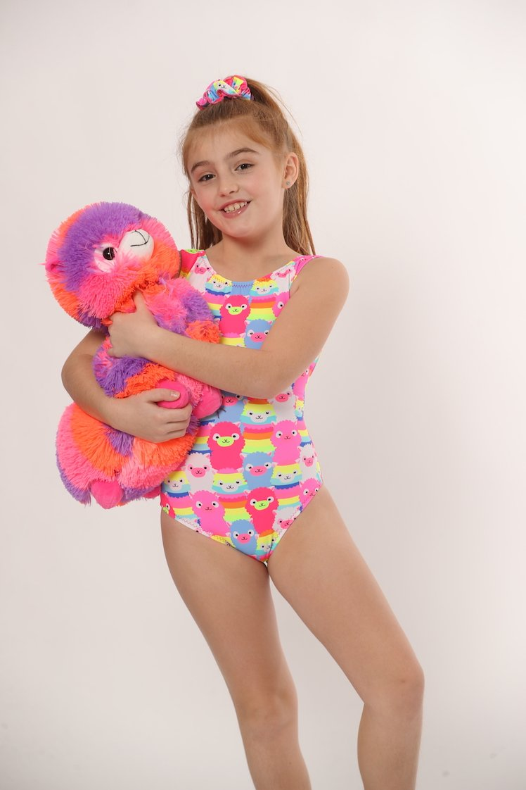 leotards with llamas for gymnastics and dance