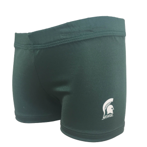 MSU college gymnastics gym shorts by Foxy's Leotards
