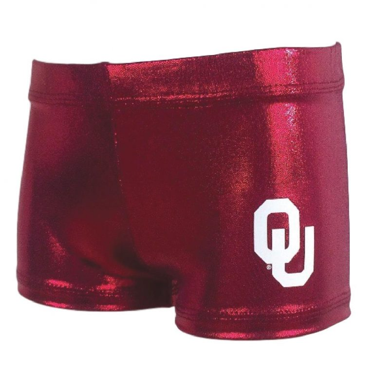 OU college gym shorts for gymnastics dance cheer volleyball and more sports and athletics
