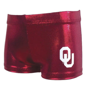 OU college gym shorts for gymnastics