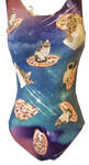 Ultra Soft Flying Pizza Cats Leotard