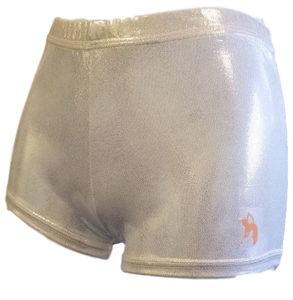 White Shiny Gym Shorts