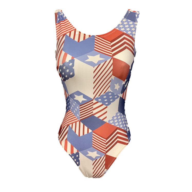 Vintage USA flag leotard.