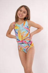 bird of paradise leotard for girls by Foxy's