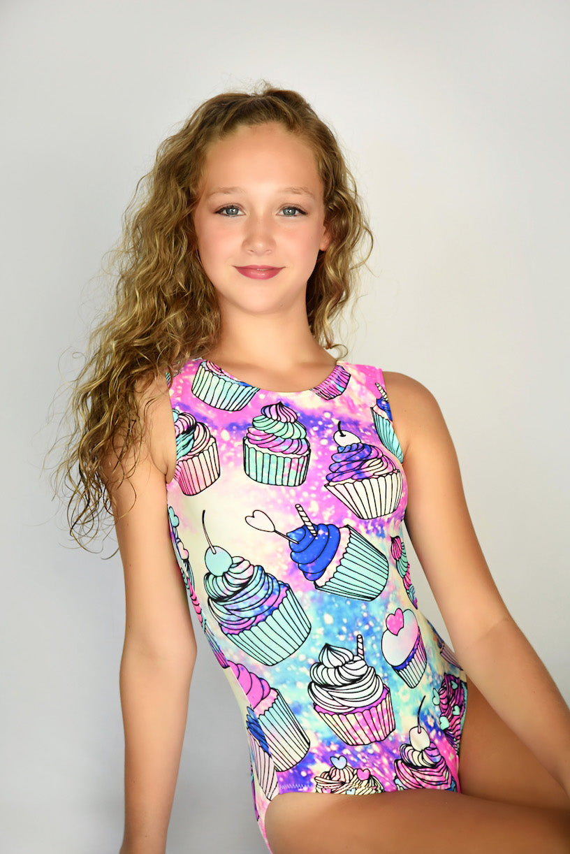 leotards with cupcake images