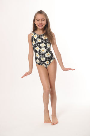 ultra soft open-back tank gymnastics and dance leotard