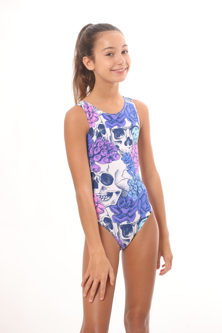 day of the dead leotards for girls gymnastics