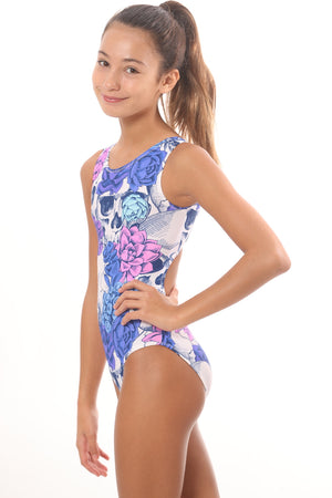 leotards with skulls for gymnasts and dancers