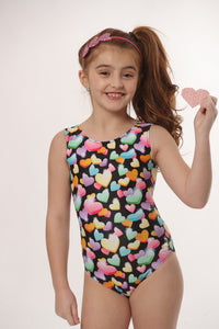 valentine leotard for girls gymnastics and dance