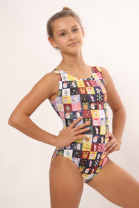 Christmas print leotards from Foxy's Leotards