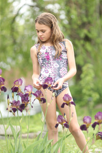 ULTRA SOFT Life In Purple Bloom Leotard