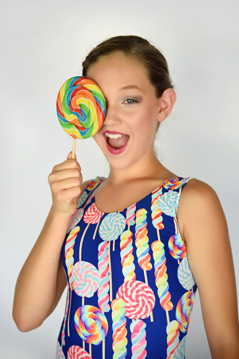 leotards with lollipops