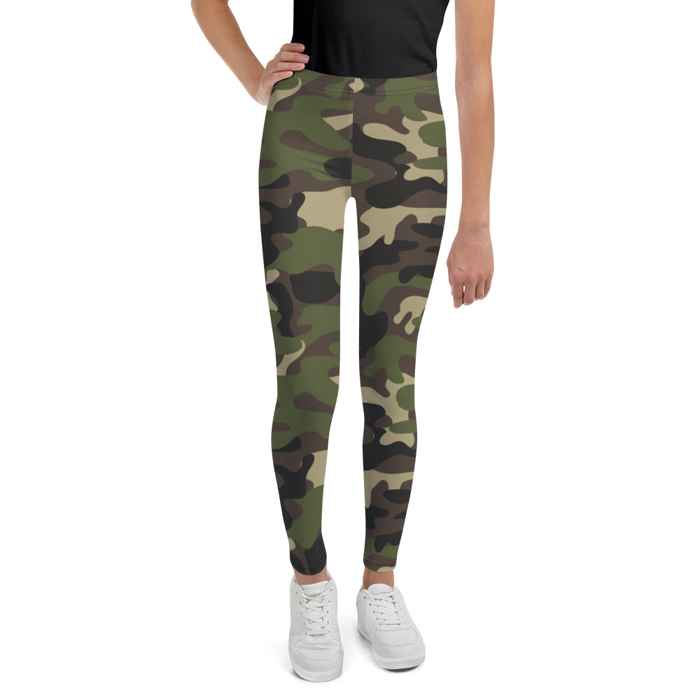 Youth Yoga Leggings (Camouflage)