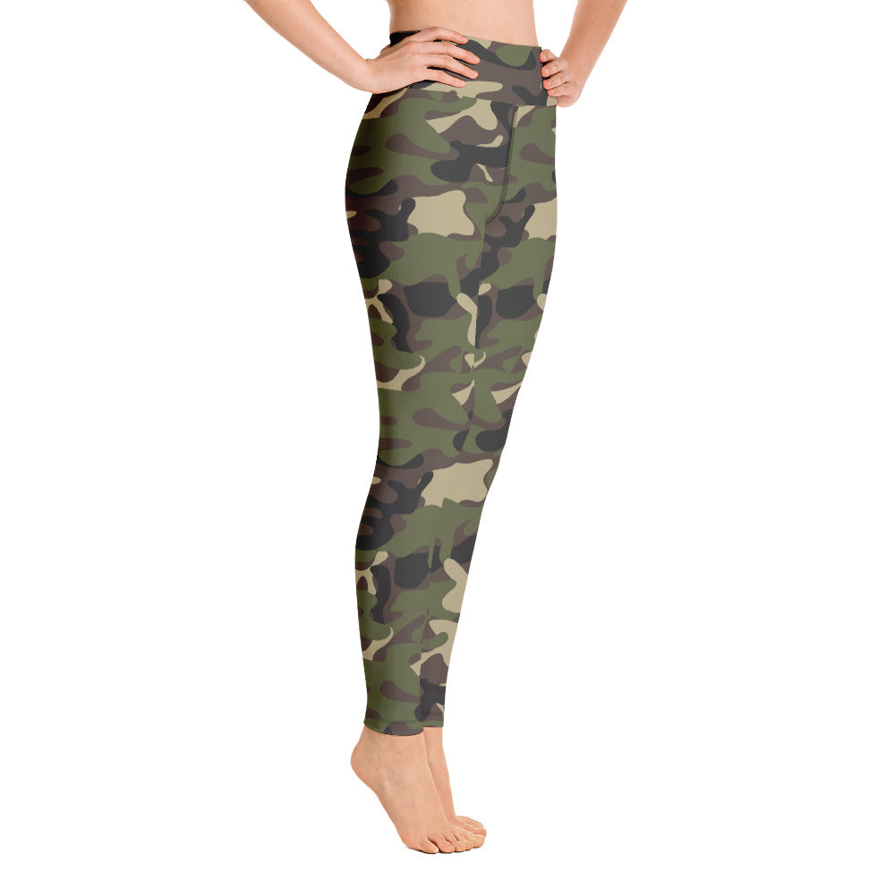 camouflage yoga leggings for girls