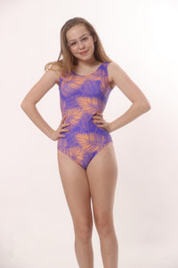 leotards with palm leaves