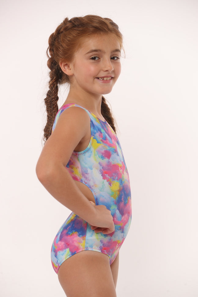 Rainbow Clouds Leotard