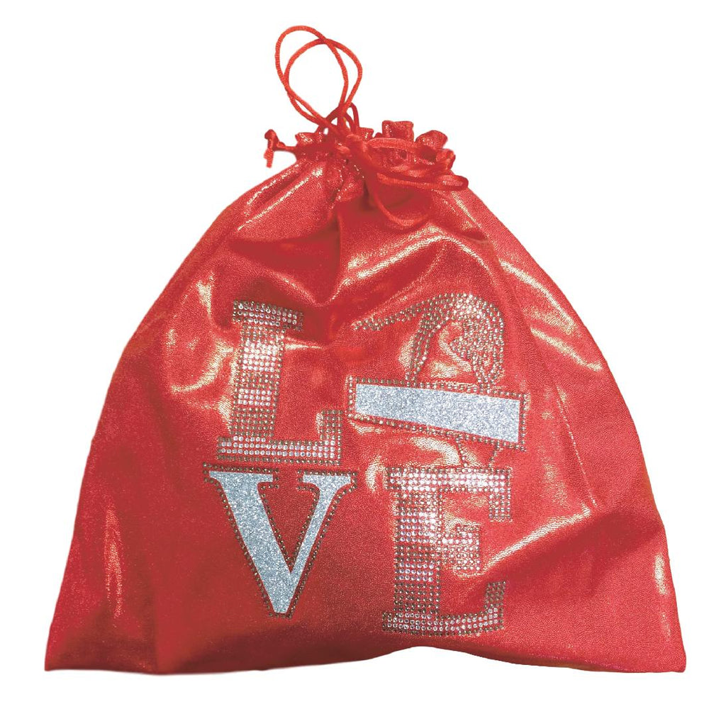 red grip bag for gymnast grips
