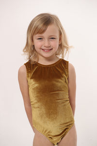 ULTRA SOFT Solid Retro Gold Leotard