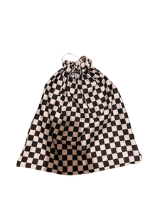 black & white checkered grip bag for gymnastics