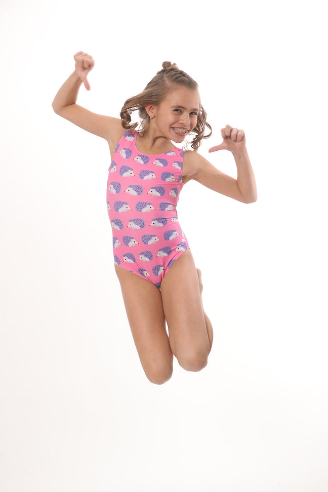 jump for joy in Foxy' Leotards