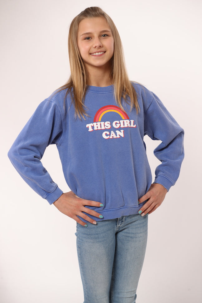 This Girl Can Blue Sweatshirt