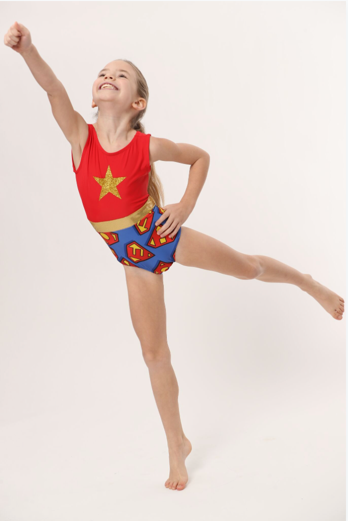 super girl leotard