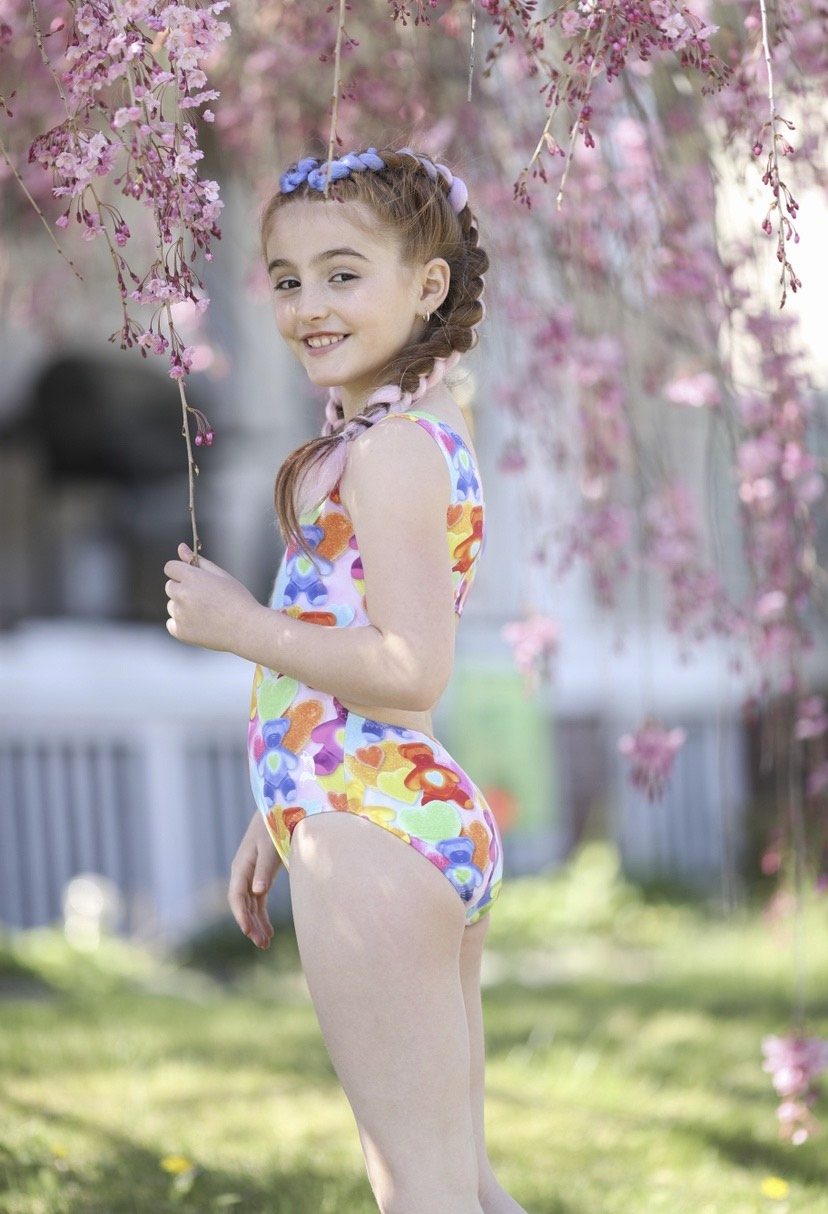 candy leotard for girls
