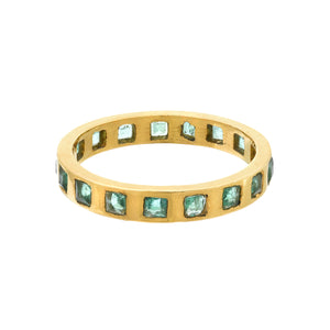 Colombian emerald eternity ring
