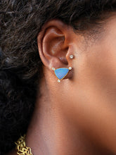 Australian opal + diamond stud earrings