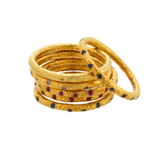 24K gold stacker ring