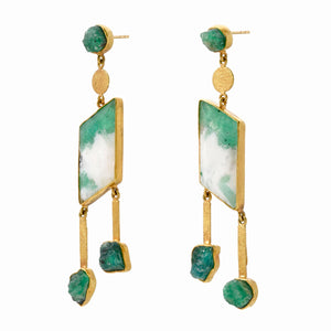 emerald dangle earrings