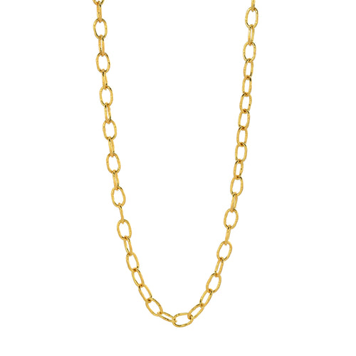 18k oval-link gold chain necklace