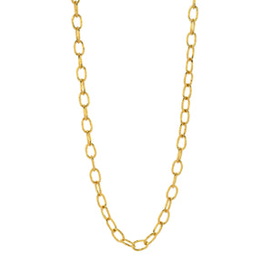 oval-link 18K gold chain necklace