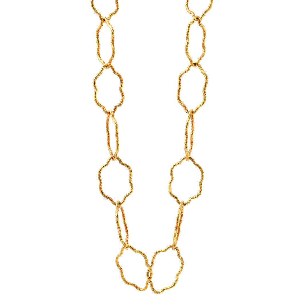 18k cloud-link gold chain necklace