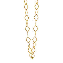 diamond-link 18K gold chain necklace