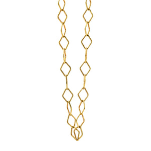 18k diamond-link gold chain necklace