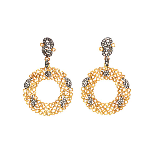 small circle dangle earrings <br><i>Hawa Collection</i></br>