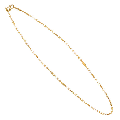 18k JSN Signature gold chain necklace