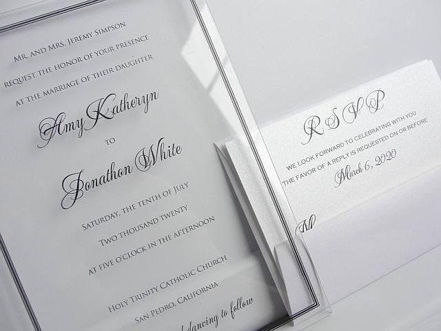 Acrylic Wedding Invitation, Clear Wedding Invitation, Lucite Wedding Invite, Wedding Invite, Unique Wedding Invitation, LUCITE